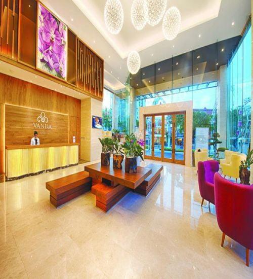 Thiết kế thi công nội thất khách sạn Vanda theo tiêu chuẩn 4 sao