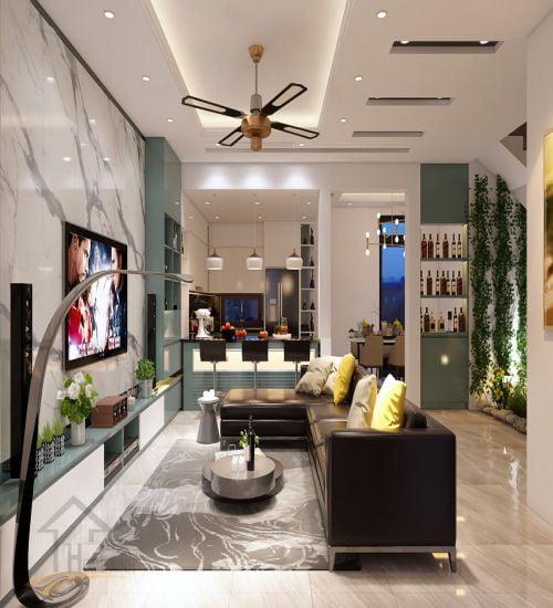 Thiết kế nội thất phòng ngủ Nhà liền kề dự án Monbay