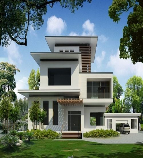 Những mẫu thiết kế biệt thự hiện đại đẹp 2021