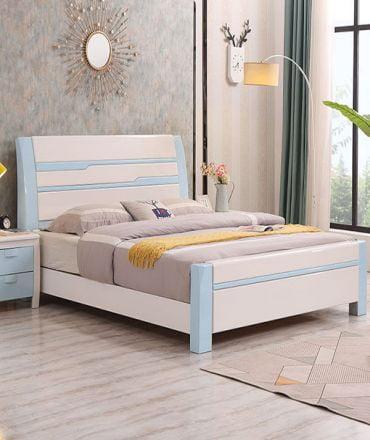 Giường ngủ gỗ gia đình phun sơn hiện đại