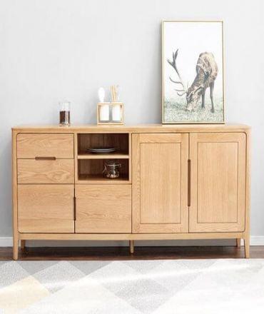 Tủ bếp bằng gỗ tự nhiên nhỏ gọn đa năng tiện lợi