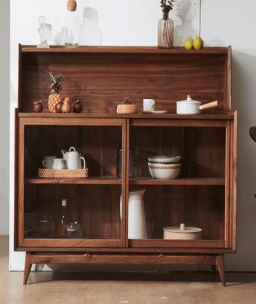 Tủ bếp gia đình gỗ sồi tự nhiên thiết kế hiện đại